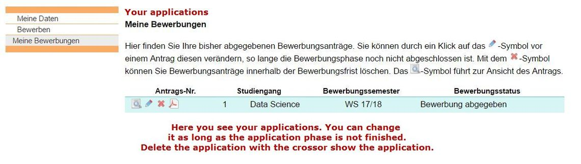 Admission Application Beuth Hochschule 13 15