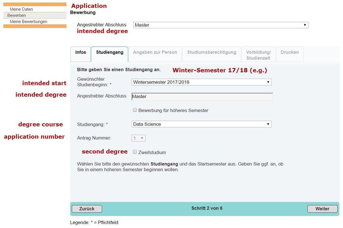 Bewerbung Beuth Hochschule